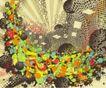 抽象0054,抽象,欧美花纹元素,彩图