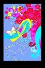 抽象0060,抽象,欧美花纹元素,蝴蝶 花朵