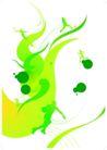 抽象0061,抽象,欧美花纹元素,绿色图纹