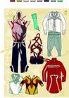 服装0054,服装,欧美花纹元素,衣着 男装 女装