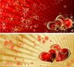 红心0026,红心,欧美花纹元素,光芒 浪漫背景