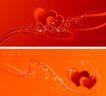 红心0028,红心,欧美花纹元素,红心 炫彩背景