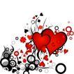红心0029,红心,欧美花纹元素,心形 圆形