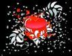 红心0044,红心,欧美花纹元素,