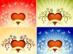 红心0053,红心,欧美花纹元素,浪漫背景