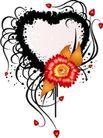 红心0057,红心,欧美花纹元素,花朵 装饰框