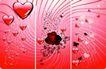 红心0058,红心,欧美花纹元素,浪漫背景