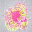 红心0061,红心,欧美花纹元素,幼儿园 炫彩背景 粉色图纹