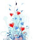 红心0070,红心,欧美花纹元素,枝叶 条藤