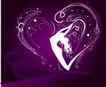 红心0080,红心,欧美花纹元素,紫色调图片