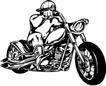 雷霆摩托0073,雷霆摩托,欧美花纹元素,驾驶摩托