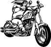 雷霆摩托0075,雷霆摩托,欧美花纹元素,骑车兜风