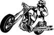 雷霆摩托0078,雷霆摩托,欧美花纹元素,骑着摩托