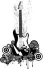 音乐0020,音乐,欧美花纹元素,吉它