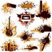 音乐0041,音乐,欧美花纹元素,