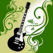 音乐0053,音乐,欧美花纹元素,吉它