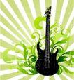 音乐0056,音乐,欧美花纹元素,吉他 花纹 背景 小提琴