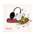 音乐0060,音乐,欧美花纹元素,耳机