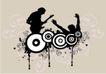 音乐0070,音乐,欧美花纹元素,表演