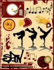 音乐0073,音乐,欧美花纹元素,街舞
