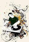 音乐0074,音乐,欧美花纹元素,模糊图片