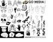 人物百科0002,人物百科,花纹图案,人体器官 手部 头部