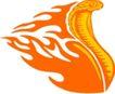 动物火焰0175,动物火焰,花纹图案,