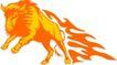 动物火焰0177,动物火焰,花纹图案,