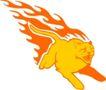 动物火焰0191,动物火焰,花纹图案,