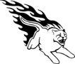 动物火焰0192,动物火焰,花纹图案,