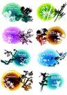 墨染花纹0003,墨染花纹,花纹图案,树枝 自然