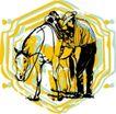 时尚男子花纹0060,时尚男子花纹,花纹图案,马匹 训马师