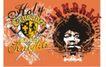 流行动感纹饰0056,流行动感纹饰,花纹图案,人物头像