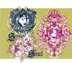 流行动感纹饰0060,流行动感纹饰,花纹图案,图章