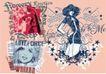 流行动感纹饰0062,流行动感纹饰,花纹图案,时尚女子