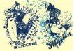 流行动感纹饰0063,流行动感纹饰,花纹图案,衣饰图案