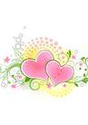 节庆点缀花纹0005,节庆点缀花纹,花纹图案,浪漫心形