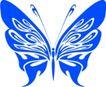 蝴蝶纹饰0007,蝴蝶纹饰,花纹图案,剪纸