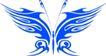 蝴蝶纹饰0018,蝴蝶纹饰,花纹图案,蓝颜色