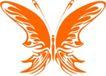 蝴蝶纹饰0022,蝴蝶纹饰,花纹图案,金色蝴蝶