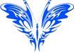 蝴蝶纹饰0026,蝴蝶纹饰,花纹图案,蓝色蝶饰