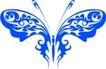 蝴蝶纹饰0030,蝴蝶纹饰,花纹图案,蝴蝶装饰物