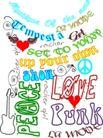 音乐摇滚元素0018,音乐摇滚元素,花纹图案,音乐元素 文字