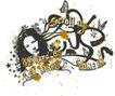 音乐摇滚元素0028,音乐摇滚元素,花纹图案,丝带 蝴蝶