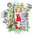 音乐摇滚元素0030,音乐摇滚元素,花纹图案,植物 条藤
