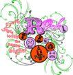 音乐摇滚元素0041,音乐摇滚元素,花纹图案,