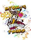 音乐摇滚元素0043,音乐摇滚元素,花纹图案,