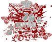 音乐摇滚元素0049,音乐摇滚元素,花纹图案,
