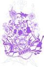 音乐摇滚元素0065,音乐摇滚元素,花纹图案,花草