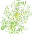 音乐摇滚元素0066,音乐摇滚元素,花纹图案,淡色图片